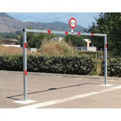 Portique de parking pivotant   portique en acier galvanisé