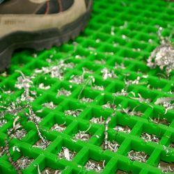 Caillebotis antidérapants en PVC - maille 30x30mm - Caillebotis industriel COBAMAT LIGHT