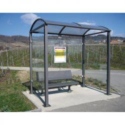 Station bus toiture VOUTE | Abri bus