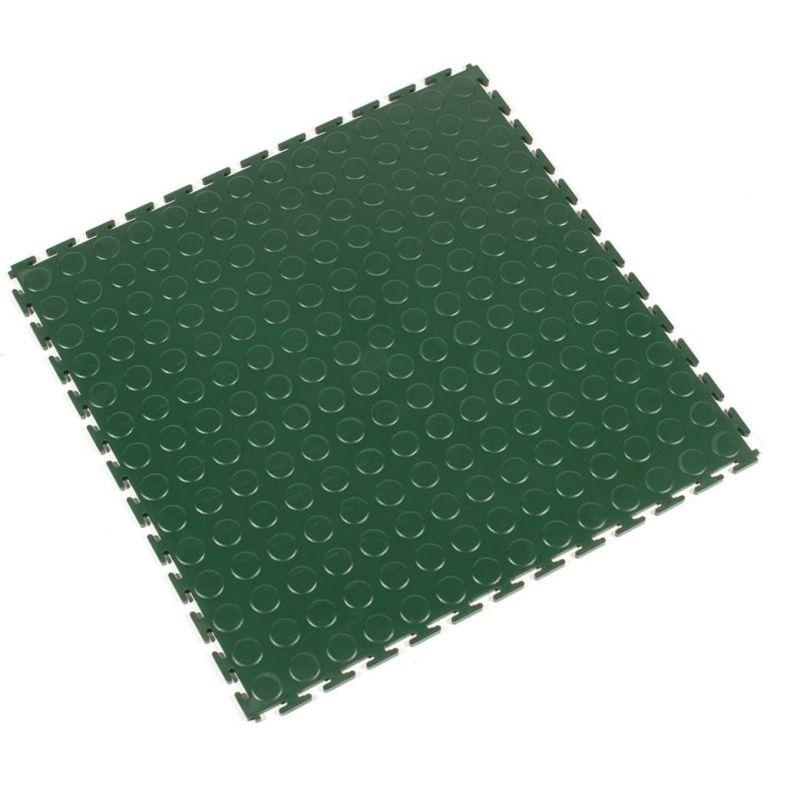 Dalle modulable antidérapante en PVC à surface pastillée - Revêtements  de sol antidérapants TOUGH-LOCK - Vert