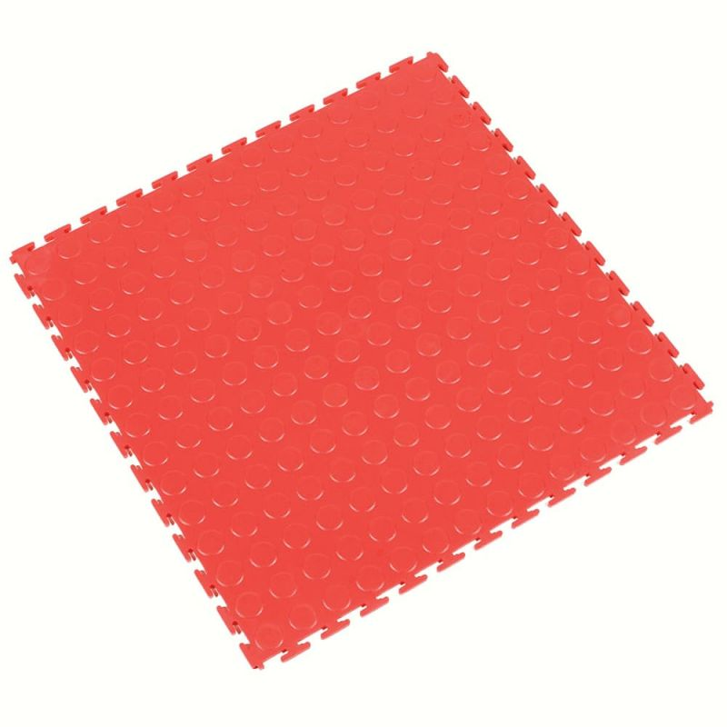 Dalle modulable antidérapante en PVC à surface pastillée - Revêtements  de sol antidérapants TOUGH-LOCK - Rouge