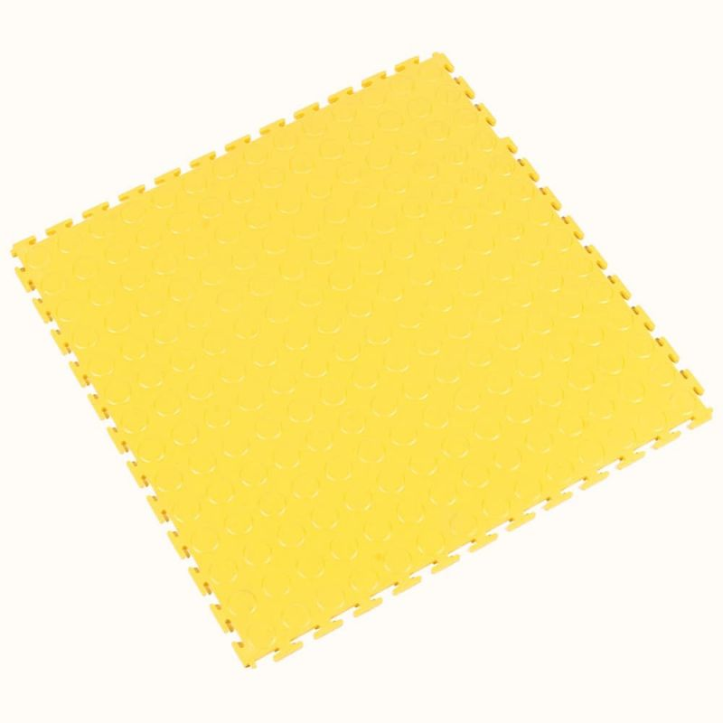 Dalle modulable antidérapante en PVC à surface pastillée - Revêtements  de sol antidérapants TOUGH-LOCK - Jaune