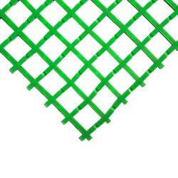 Caillebotis antidérapants en PVC - maille 22x22mm - Caillebotis industriel COBAMAT STANDARD coloris vert