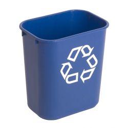 Poubelle de tri sélectif 12,9 L Rubbermaid symbole de recyclage.