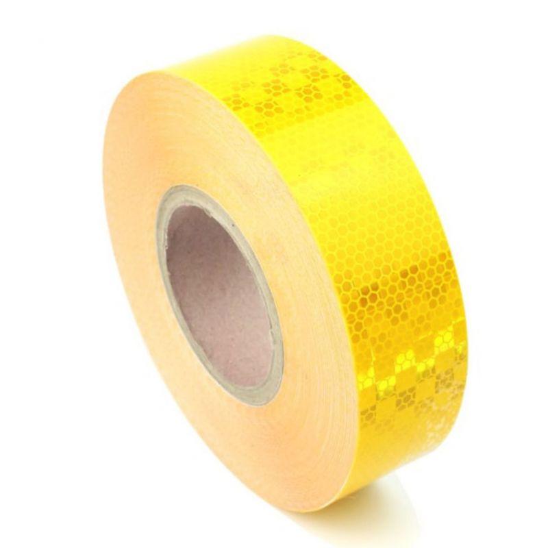 Bande réfléchissante microprismatique jaune