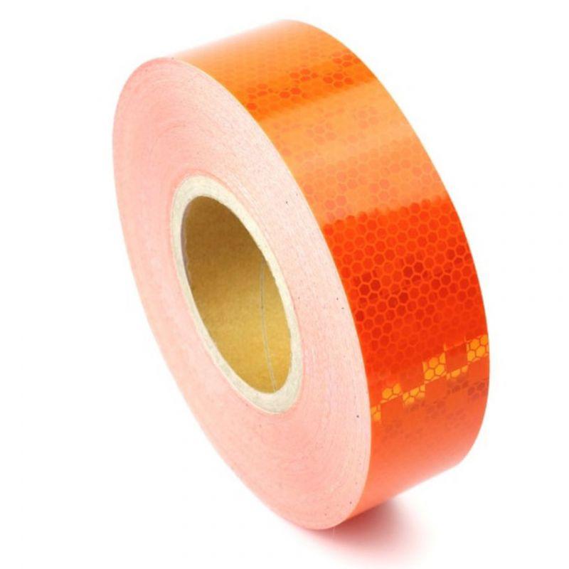 Bande réfléchissante microprismatique orange