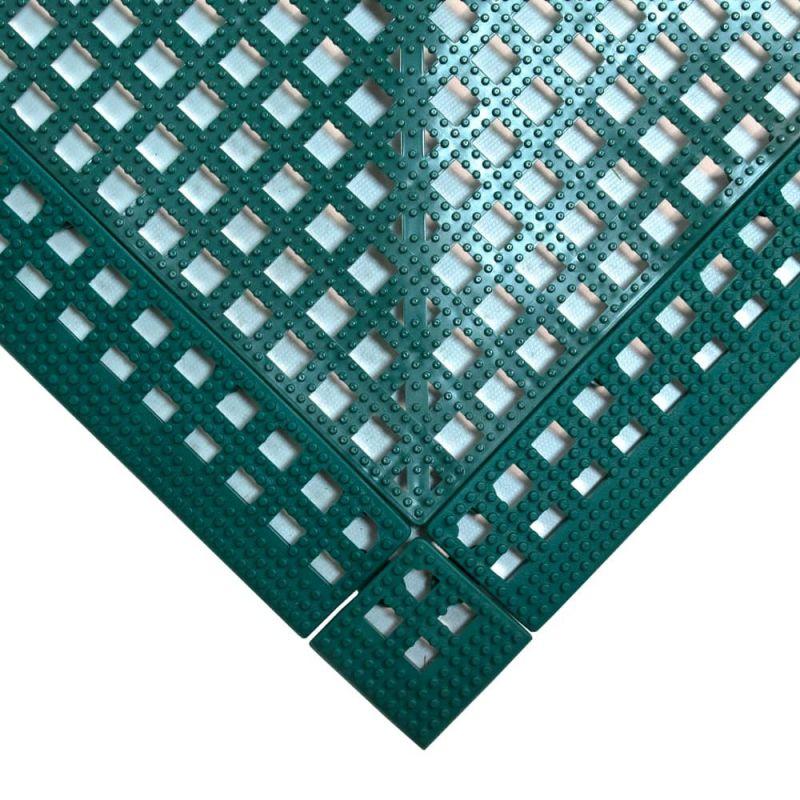 Dalle de sol en PVC souple et drainante - Caillebotis industriels FLEXI-DECK INDUSTRY vert