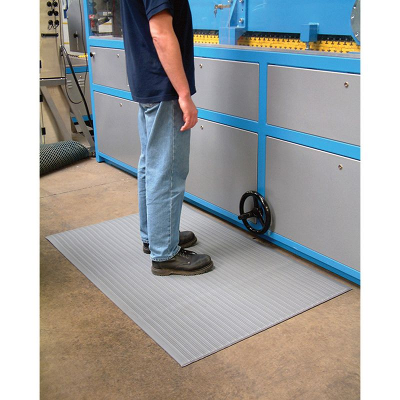 Tapis anti fatigue à surface striée, ( modèle tapis anti fatigue ORTHOMATRIBBED)