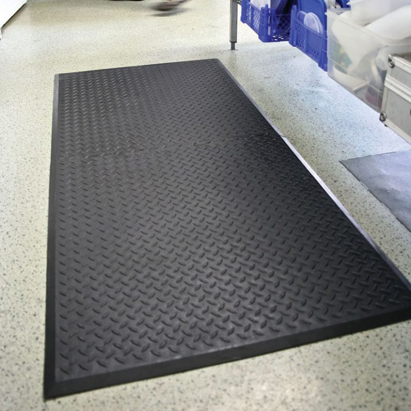 Tapis agroalimentaire antidérapant - Dalle tôle diamant