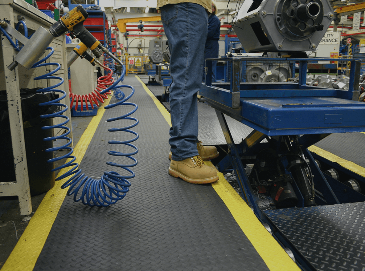 Revêtements de sols industriels - Tapis anti-fatigue